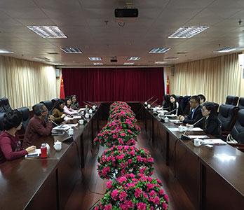 到访漳州职业技术学院与校领导交流探讨